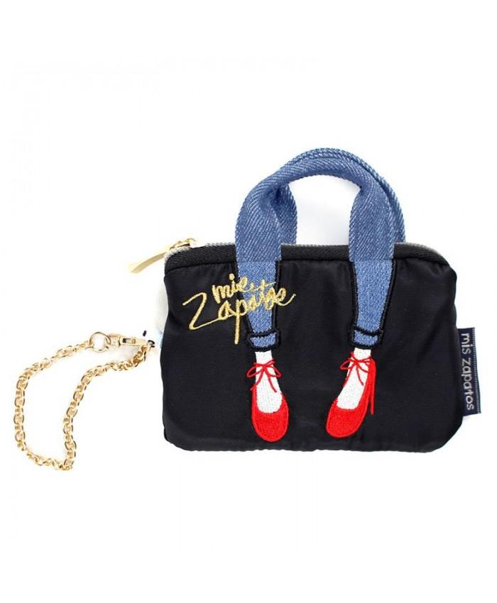 Mis Zapatos skinny蝴蝶結綁帶迷你零錢鑰匙包
